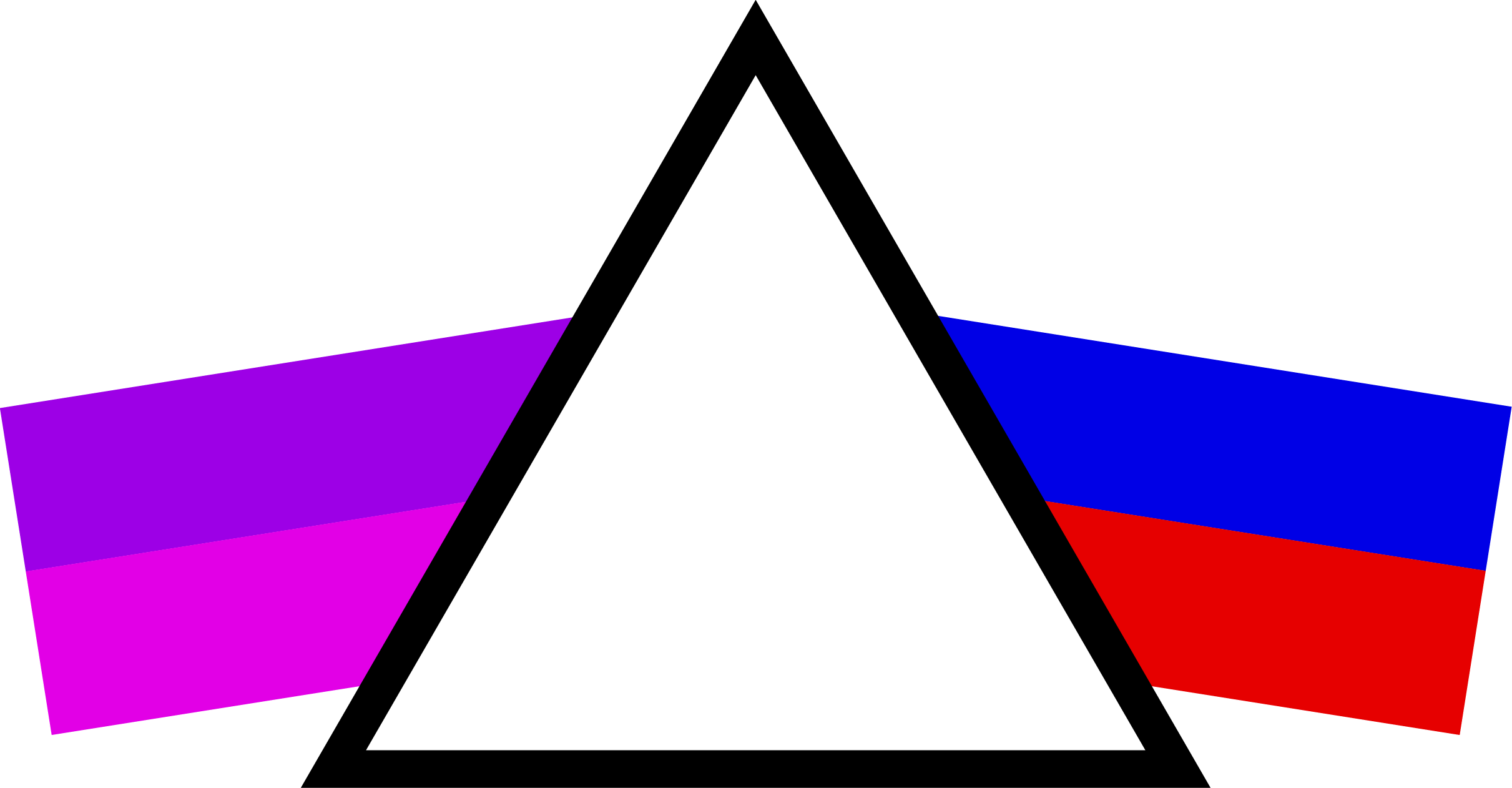 Logo of blind source separation for time and space project showing a prism separating two rays of mixed colors into base colors