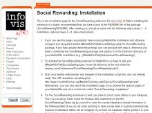 Installation page. Installing the SocialRewarding extension should be done in a couple of minutes. Along with the installation it is highly recommended to perform a first data initialization.